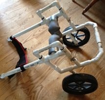 PVC dog wheelchair build from our plans