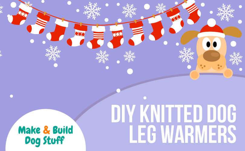 Learn how to make knitted dog leg warmers