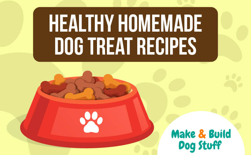 A collection of healthy homemade dog treat recipes