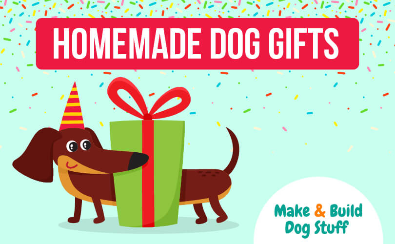 A collection of homemade dog gift ideas.