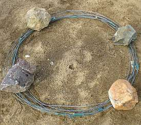 The formed wire for the agility tunnel
