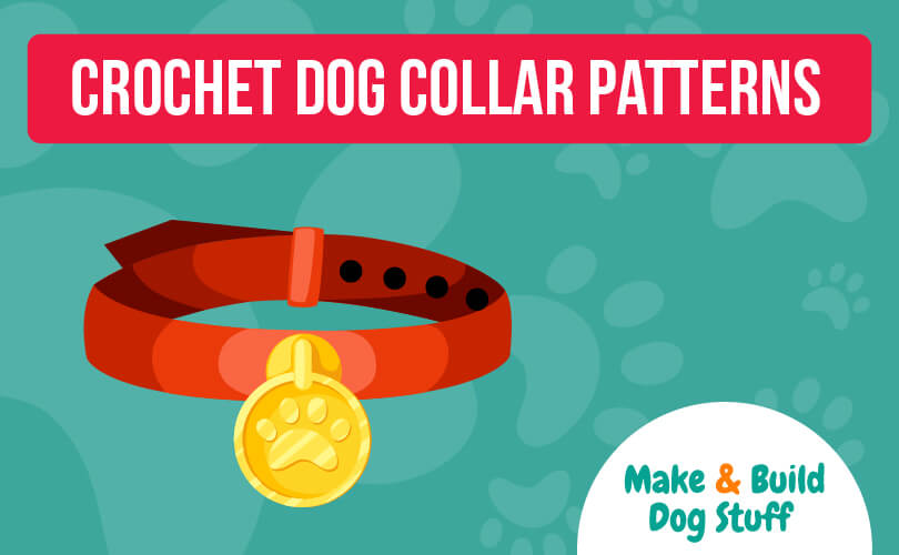A collection of crochet dog collar patterns