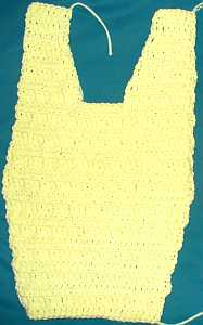 outline of one-piece crochet dog sweater