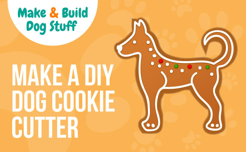 How to make a DIY dog cookie cutter.