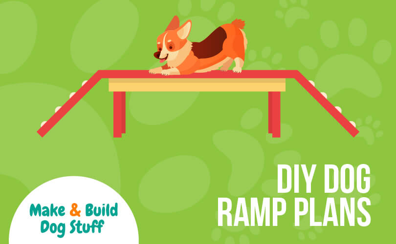 An animated picture of DIY dog ramp plans