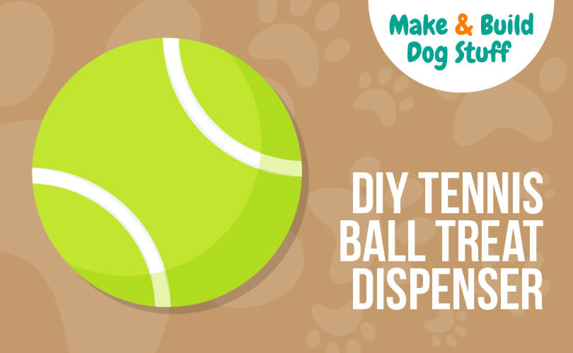 Turn a tennis ball into a treat dispenser