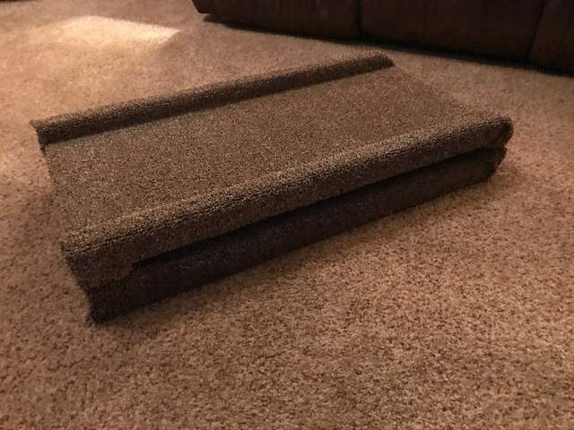 Folded portable dog ramp
