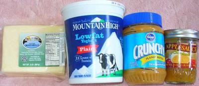 Some ingredients to add for flavor to the dog treats.