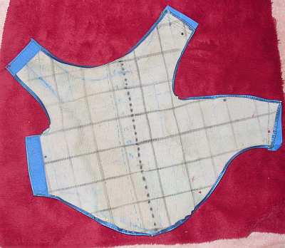 A dog coat pattern cut out