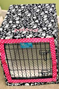 DIY dog crate cover.