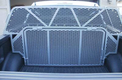 A custom made dog box cage for the back of a truck. Great for hunting dogs.