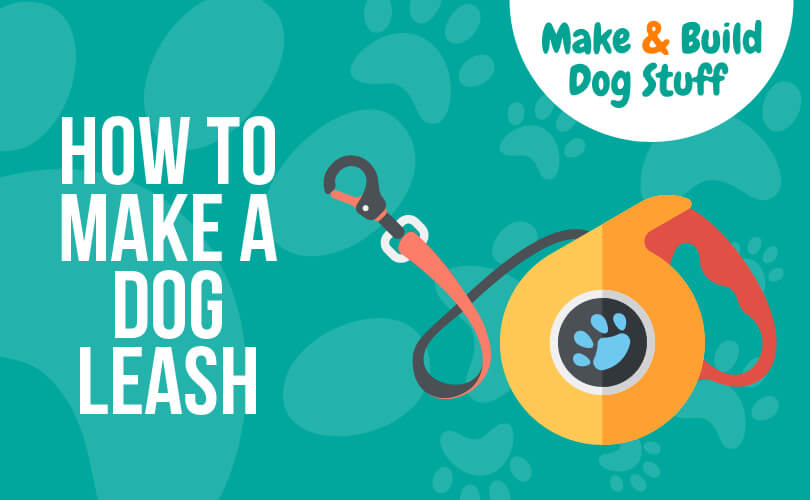 An animated picture of a dog leash. Text reads how to make a dog leash.