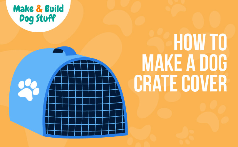 An animated picture of an enclosed dog crate